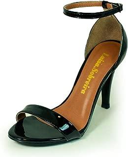 Sandália Salto Alto Fino Luiza Sobreira Verniz Preto Mod. 2212-2