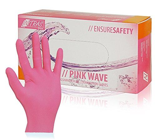 100Stück Nitras Pink Wave Nitril-handschuhe pink Größe M Einmalhandschuhe 8321