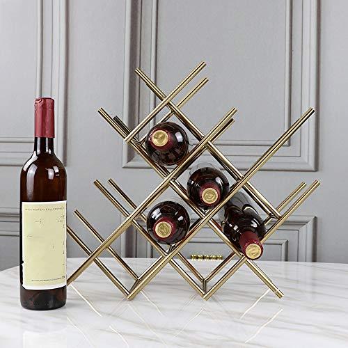 Estanterías de vino dkee Nordic Metal Creativo Estante Del Vino Decoración Creativa Estante Del Vino Hogar Sala De Estar Hotel Wine Cabinet Display Stand 40 * 37 CM