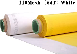 110 Mesh 3 Yards 50Inches(1.27m) Width Silk Screen Printing Fabric Mesh Screen Printing Mesh Wide High Tension Mesh Making Ink Supplies