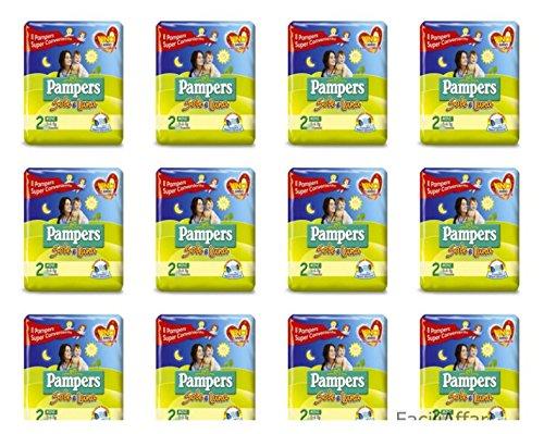 12 Paquetes Pannolini recién nacido misura 2 Pampers El sol y Luna tamaño Mini niños