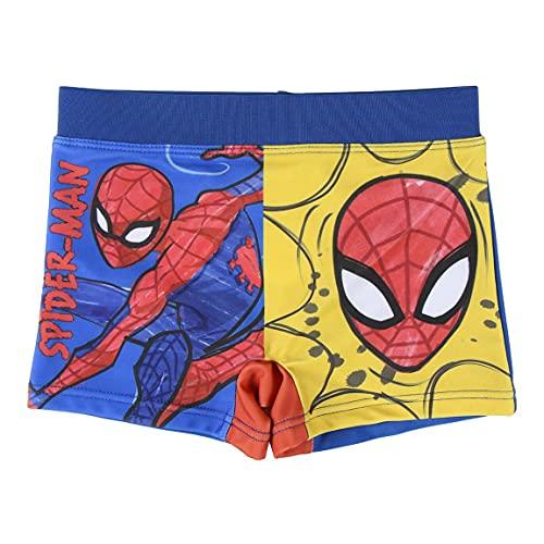 Spiderman Pantaloncini da Bagno per Bambino e Ragazzi, Costume Mare Boxer Slip Calzoncini da Bagno, Traspirante ad Asciugatura Rapida, 6 Anni