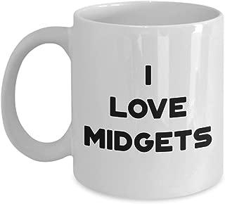 i love midgets mug