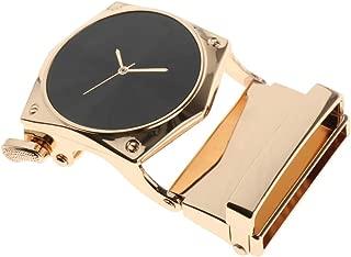 Baoblaze Fashion Automatic Slide Buckle Business Fit 1.4'' Leather Belt