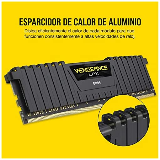 Corsair CMK8GX4M1D3000C16 Vengeance LPX 8 GB (1 x 8 GB) DDR4 3000 MHz C16 XMP 2.0 Módulo de Memoria de Alto Rendimiento… 4