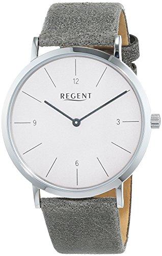 Regent Herren Analog Quarz Uhr mit Leder Armband 11110821