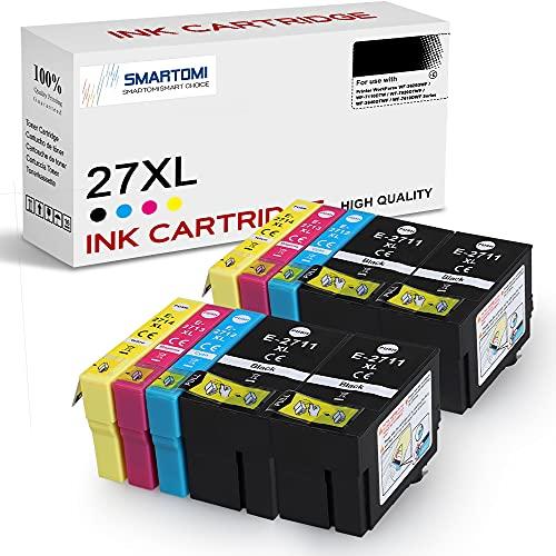 SMARTOMI 27XL Cartucce d'inchiostro Compatibili per Epson 27XL per Epson WorkForce Pro WF-3620DWF WF-3640DTWF WF-7110DTW WF-7210DTW WF-7610DWF WF-7620DTWF WF-7710DWF WF-7715DWF 7720DTWF Series