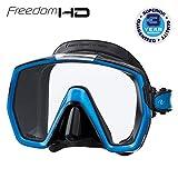 Tusa M1001 Freedom HD Scuba Diving Mask Black Silicone - Fish Tail Blue