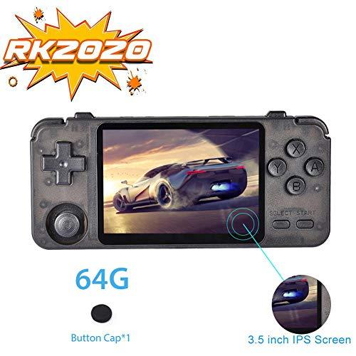 RK2020 Game Controller, Tragbare Handheld Gamebox Konsole mit 3,5 Zoll IPS Bildschirm, Multifunktionsspielgerät