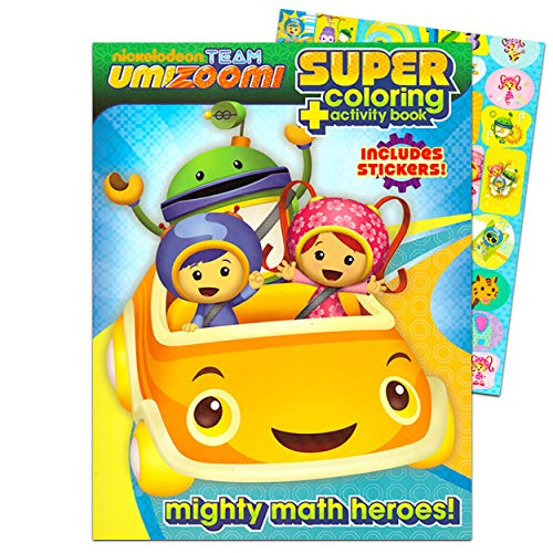Team Umizoomi Jumbo Coloring Book with Stickers (144 Pages) by Krafts4Kids