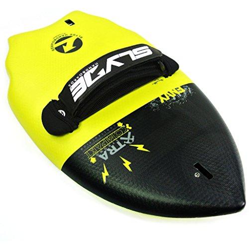 Slyde cuña Cuerpo Surfing handboard/Handplane con cámara integrada, Correa Enchufe de sujeción y Ajustable Correa