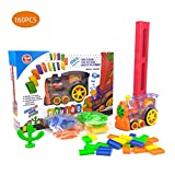 160 Pcs Dominoes Game Electric Train Kids Toy Automatic Car Vehicle Model Toy Children Learning Educational Toy