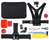 DURAGADGET Fantástico Kit de Accesorios + Estuche para cámaras Deportivas o de acción Sony HDR-AS50 / Kaiser Baas X150