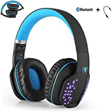 Yocuby Foldable Bluetooth Headphone, Wireless Music Headphone for Cell Phone, Beexcellent Noise Cancelling Wired Gaming Headsets with Extensible LED Light