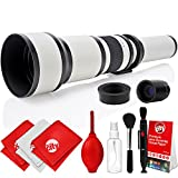 Opteka 650-2600mm High Definition Super Telephoto Zoom Lens for Nikon 1-Mount Digital SLR Photo Cameras + Premium 8-Piece Cleaning Kit