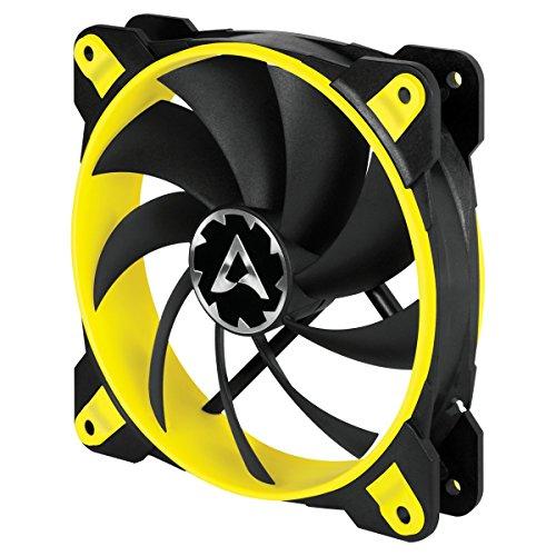ARCTIC BioniX F120 - 120 mm Gaming Gehäuse-Lüfter mit PWM PST, Case Fan mit PST-Anschluss (PWM Sharing Technology), Reguliert RPM synchron, 200-1800 U/min. - Gelb
