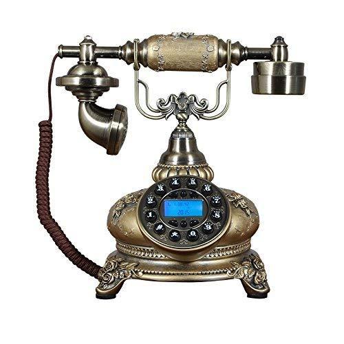 Dirgee Teléfono Retro, Identificador de Llamadas/LANDLINE/Textiles Inicio 25X20X26CM TELÉFONO MÓVIL