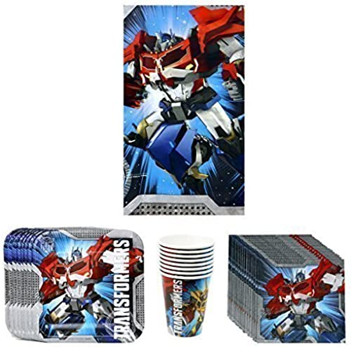 Tu satisfacción es nuestro objetivo Transformers Prime Birthday Party Supplies Supplies Supplies Pack Bundle Kit Including Plates, Cups, Napkins and Tablecover - 8 Guests by Transformers  Envío rápido y el mejor servicio