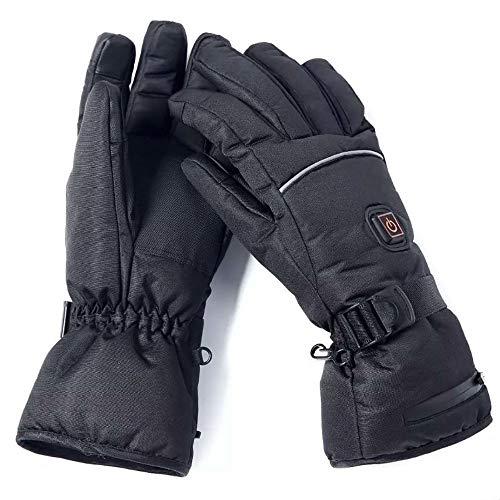 Guantes calefactables eléctricos con termostato de tres niveles, guantes calefactables para batería, guantes de esquí calientes, guantes de moto de primera calidad