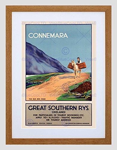 Wee Blue Coo Reizen Toerisme Connemara Ierland Paard Oude Bog Road Omlijst Muur Art Print