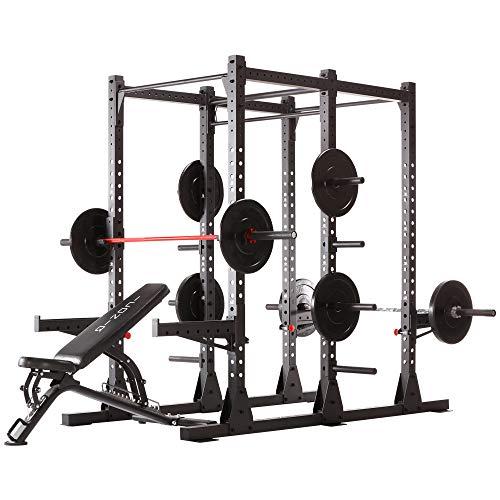 Iconiq Power Cage CF 600 Multifunktionales, Freistehendes Power Rack, Ideal Für Crosstraining, Calisthenics Und Krafttraining Mit Dem Eigenen Körpergewicht - Doppel-Squat, Klimmzugstation