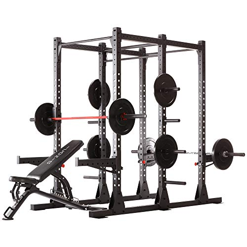 Iconiq Power Cage CF 600 Multifuncional, Power Rack, ideal para crosstraining, calistenics y entrenamiento de fuerza con el propio peso corporal – doble quat, estación de dominadas.