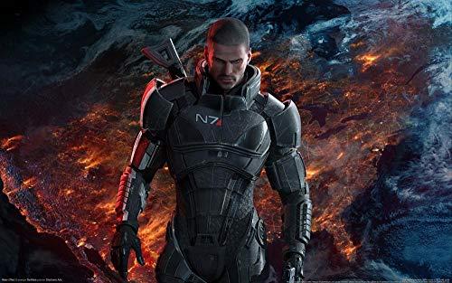Mass Effect 3 Pintar Por Numeros Adultos, Diy Por Kits De Los Números, Pintura Al Óleo De La Lona De Para Los Adultos Y Principiante Del Dibujo Con Los Cepillos Sin El Marco -40 x 50cm