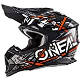 O'NEAL 2 Series Synthy Youth Kinder Motocross Enduro MTB Helm schwarz/weiß/orange 2018 Oneal: Größe: S (49/50 cm)