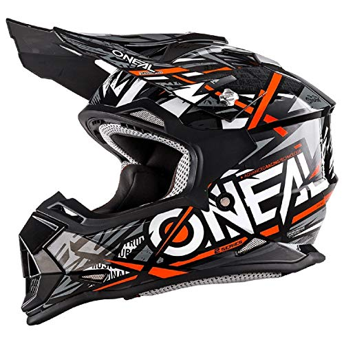 Casco para motocross de Oneal 2 Series Synthy Youth, Orange White, Small