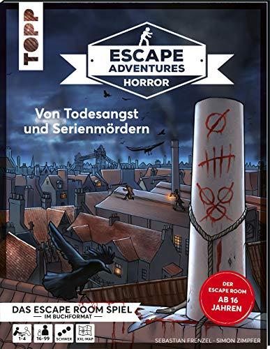 Escape Adventures HORROR – Von Todesangst und Serienmördern: Das ultimative Escape-Room-Erlebnis ab 16! Mit XXL-Mystery-Map für 1-4 Spieler. 120-150 Minuten Spielzeit
