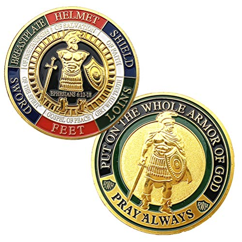 Armor of God Challenge Coin,Prayer Commemorative Coin