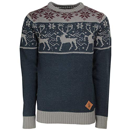 SoulStar Mens Jumper Mens Stag Deer Stag Xmas Christmas...