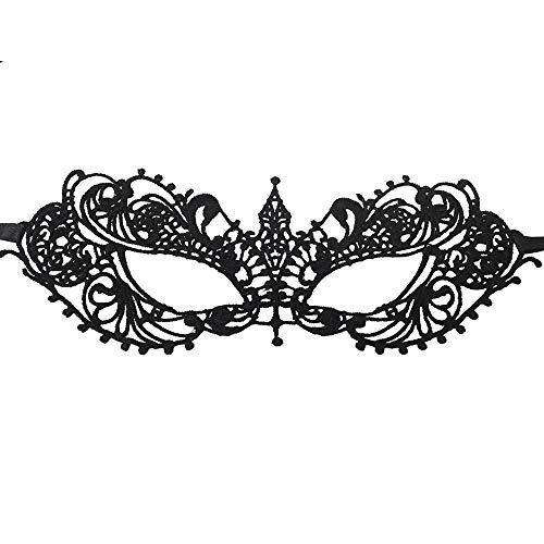 Celebrabox Máscara Seductora de Encaje para Fiestas de Disfraces, Sorprenda de Forma discreta, al Mismo Tiempo Que parezca Estar maquillada de Color Negro