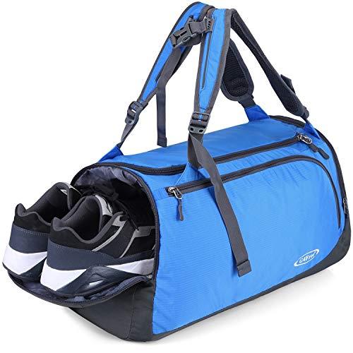 G4Free Leichte Sporttasche Gym Tasche Reise Duffel Rucksack Wochenende Tasche mit Schuhfach