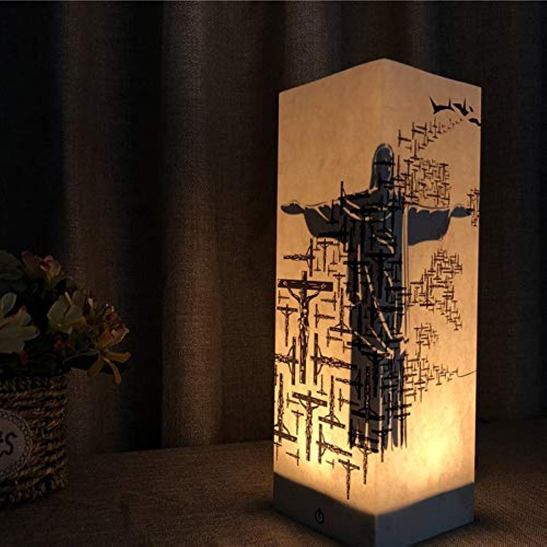 LDAKLE Kreative 3D Nachtlicht Schatten Dekorative Lampe USBWarmwei Berührungsempfindliche Schwache Flammende Beleuchtung