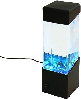 Yosoo medusas bola de agua Tropical peces acuario tanque LED luces relajante humor luz lámpara de noche