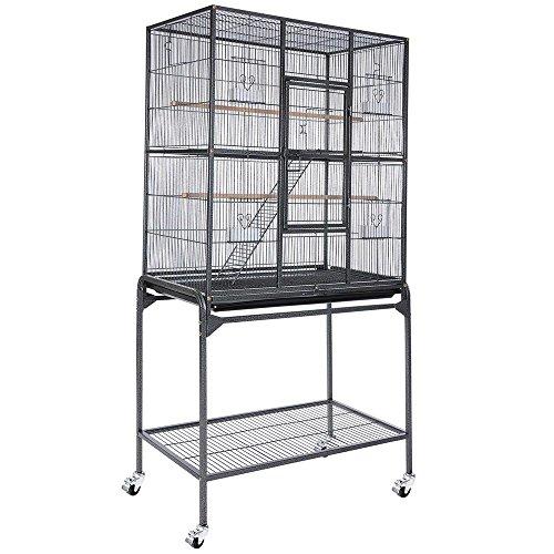 Yescom Bird Parrot Cage Overall Size Chinchilla Sugar Glider Cockatiel Supplies(Black Vein)