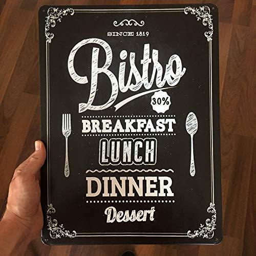 Générique Panneau de réception de la Nourriture Manger Savoureux Petit déjeuner Panneau en métal Luch métal saign Dîner Signe de la Maison Bar