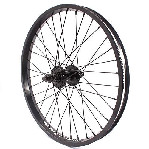 KHE BMX ruota posteriore in alluminio KHE BIG400 36 fori 14 mm nero pignone e nastro per cerchione
