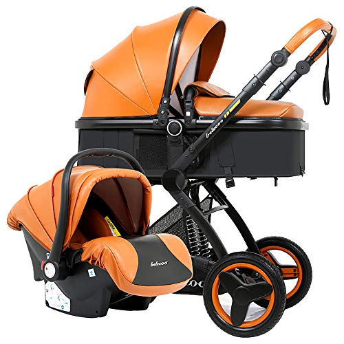 Review WANGLXST MultifunctionTravel System, Foldable Buggy Can Sit/Can Lie Down, Carriage for 0 to 3...