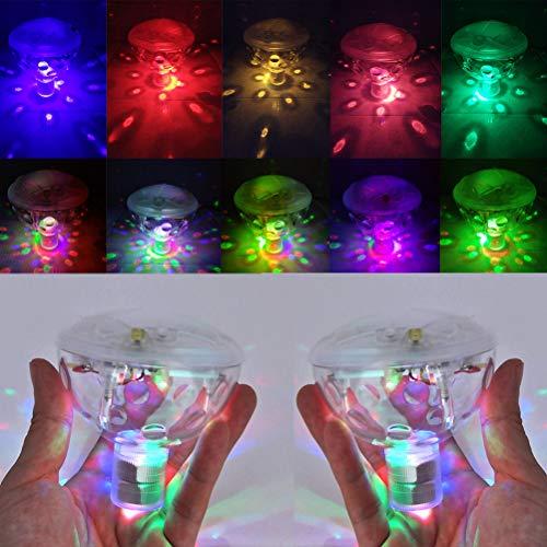 Uonlytech LED-Teichleuchte, Wasserdichte, farbwechselnde LED-Globus-Poolleuchte mit Fernbedienung, LED-Schwimmleuchte für Poolbadezimmer (1 Stk, Mehrfarbig)