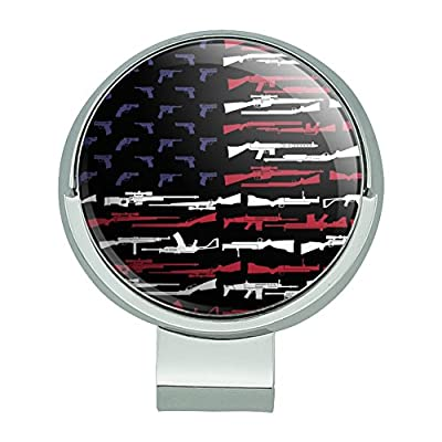 Graphics and More American Gun Flag USA Second 2nd Amendment Golf Hat Clip With Magnetic Ball Marker