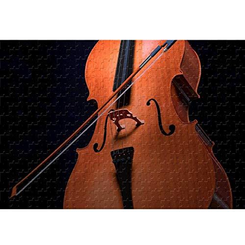 Cello Instrument Classic Puzzle Jigsaw 500 1000 1500 2000 3000 Piezas para Adultos Difícil Pieza Grande Pedazo Puzzle Decoración de Regalo de cumpleaños 210307