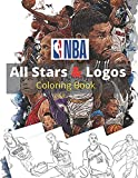 NBA All Stars Logos Coloring Book: LeBron James, Kevin Durant, Kawhi Leonard, Stephen Curry, Russell Westbrook and all team logo