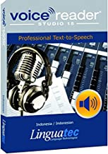 Voice Reader Studio 15 Indonesia / Indonesian – Professional Text-to-Speech Software (TTS) for Windows/ Convert any text into audio / Natural sounding voices / Create high-quality audio files / Large variety of applications: E-learning; Enrichment of training documents or advertising material; Traffic announcements, Telephone information systems; Voice synthesis of documents; Creation of audio books; Support for individuals with sight disability or dyslexia / This version contains 1 female voice