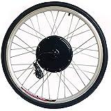 CARLAMPCR Kit de conversión de Bicicleta eléctrica,48V 1000W Ebike Kit, Rueda de Motor de buje Trasero 20'24' 26'28' 700C Motor sin escobillas, con Pantalla LCD,20INCH