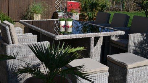 Polyrattan Rattan Geflecht Garten Sitzgruppe Toscana XL Bild 2*
