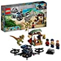 LEGO 75934 Jurassic World Dilophosaurus on The Loose Set with 3 Minifigures, Drone and Dinosaur Figure, Multicolour