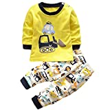 Hengsong Fouilleur Impression Garçons Filles Coton Pyjama Bébé Four Seasons sous-vêtements Ensembles Enfants (110cm)