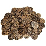 Funeez Pirate Coins - Pirate Party Supplies - Value Pack of 144 Pirate Coins - Perfect for Pirate Treasure Hunt and Carnival Games